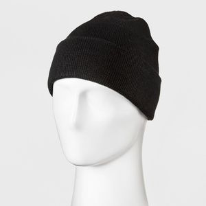 Men's Knit Cuff Beanie - Goodfellow & Co™ Black On
